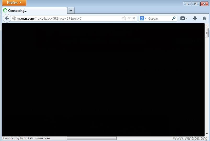 How to fix Firefox black page problem - wintips org