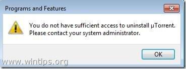 no-access-to-uninstall