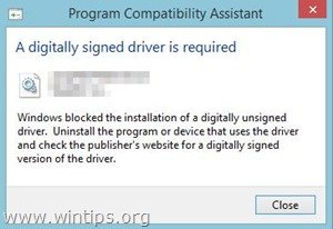Windows cannot verify the digital signature