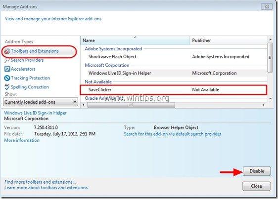 remove_saveclicker_internet_explorer