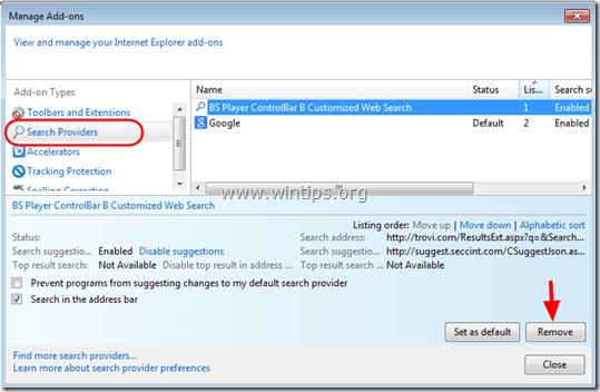 remove-bs-player-toolbar-internet-explorer