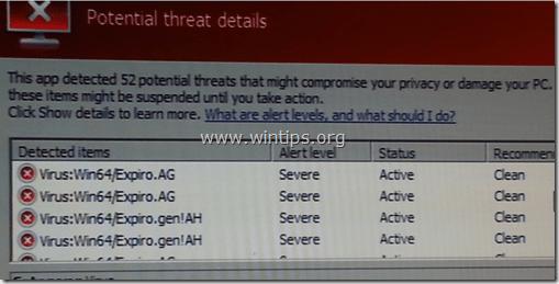 Win32.Expiro virus removal guide