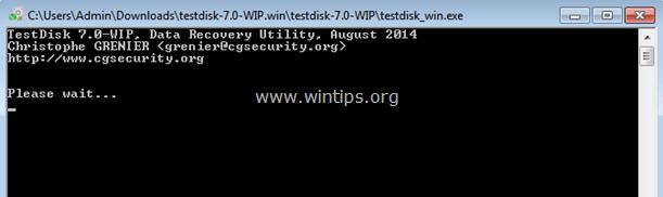 Recover Files testdisk