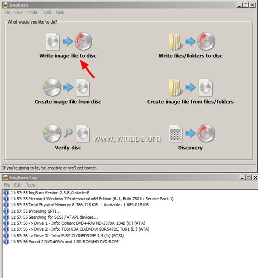 Burn ISO file to DVD