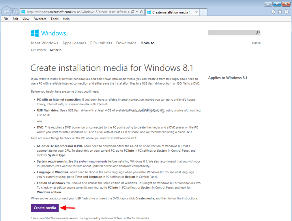 windows 8.1 download iso 64bit
