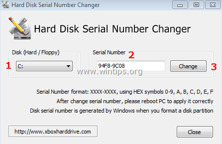 How to change Hard Disk's Volume Serial Number (Volume ID) - wintips