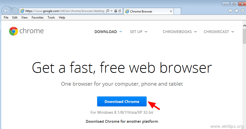 Google chrome download for windows xp setup 2015