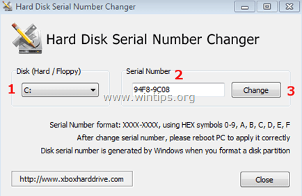 Volume-Serial-Number-Changer