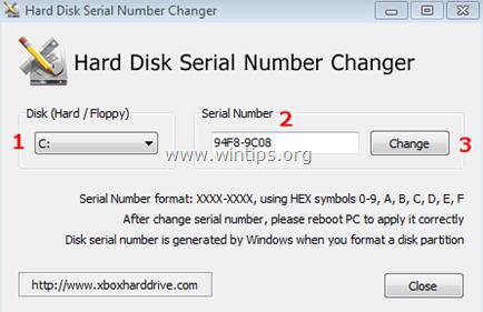 Volume-Serial-Number-Changer