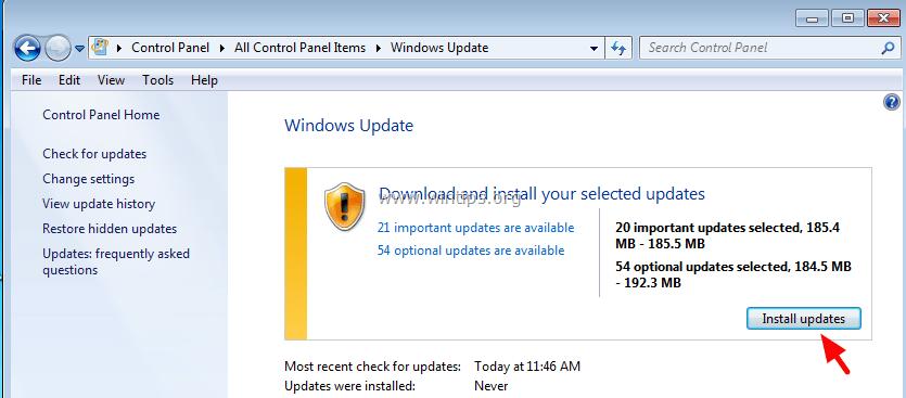 Windows update error 9c59 mainstream support microsoft