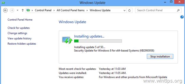 Upgrade internet explorer version 11 for windows 7 failed 9c48
