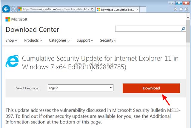 Cumulative Security Update (2898785) For IE