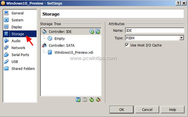 VirtualBox VM Settings