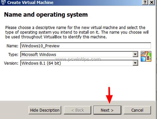 install Windows 10 VM