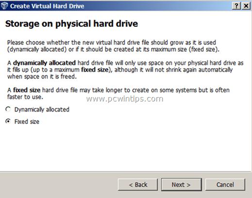 Virtual Machine - Storage