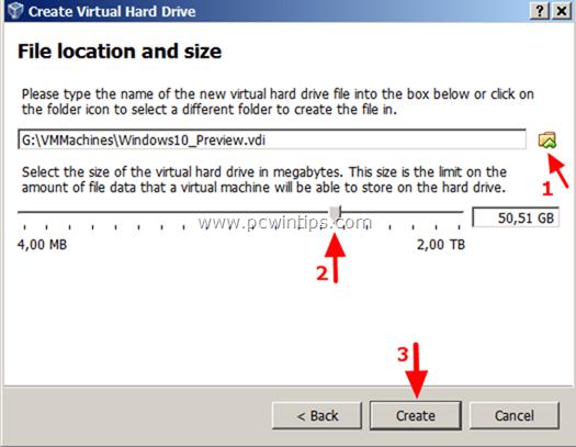 Virtual Machine - Hard Drive Location
