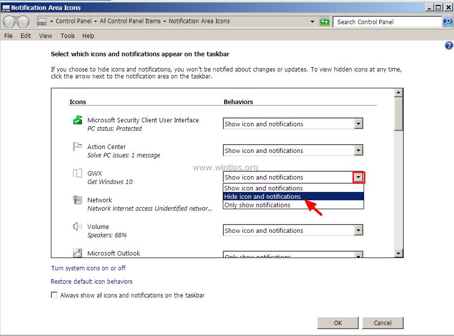 hide-Get-Windows-10-icon