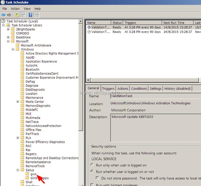 remove get windows 10 icon