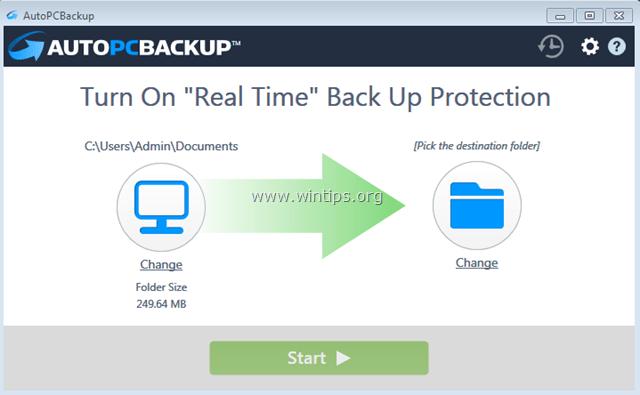 remove auto pc backup
