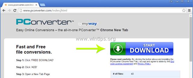 remove pconverter toolbar