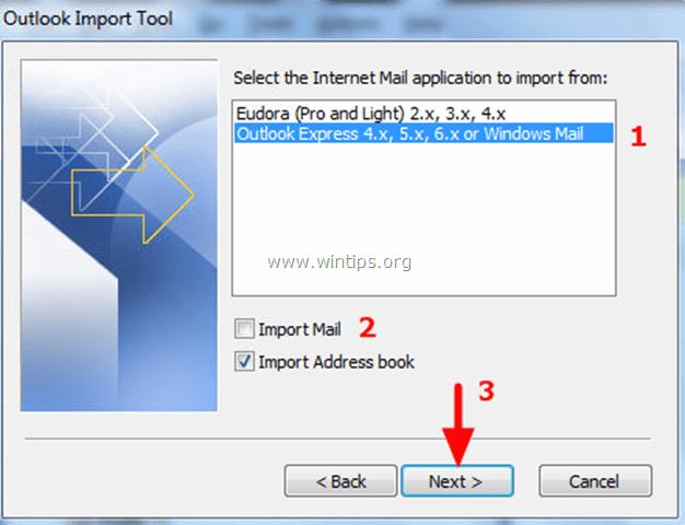 Import Address book