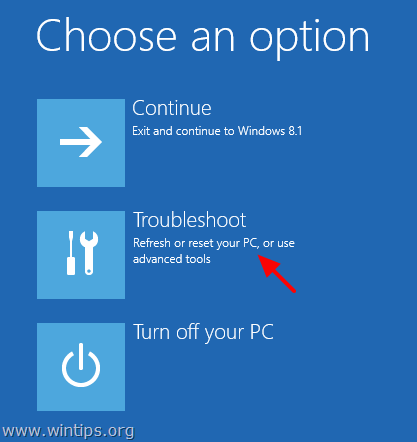 Windows 8 Troubleshoot