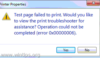 Print Operation Failed Error 0x00000006