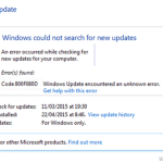 How to fix Error Code 800F080D in Windows Update.