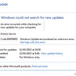 How to fix Error Code 800F080D in Windows Update.