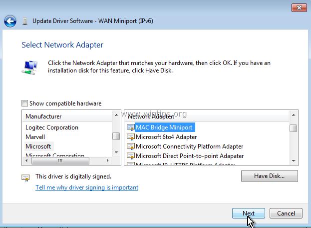 MAC BRIDGE MINIPORT TREIBER WINDOWS XP