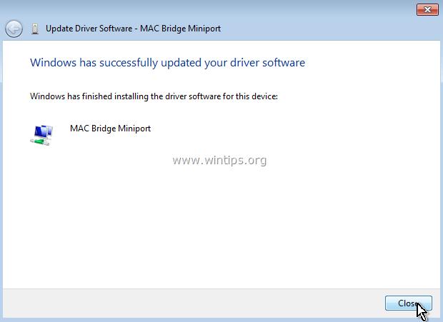 mac bridge miniport