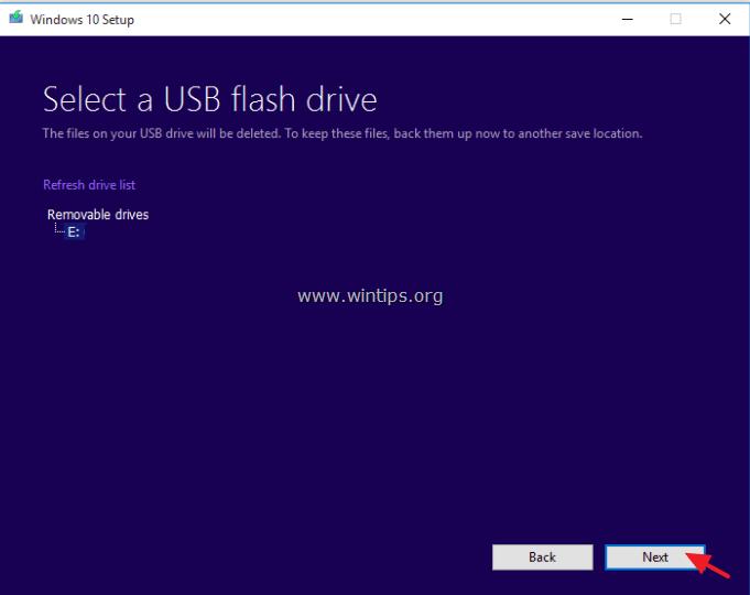 How to create a bootable Windows 10 USB installation media. - wintips.org - Windows Tips & How-tos