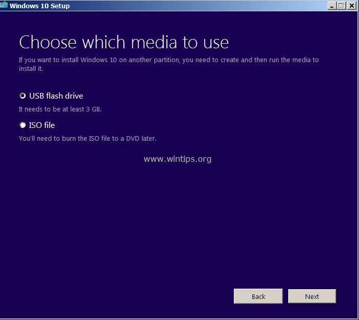 usb boot select media file