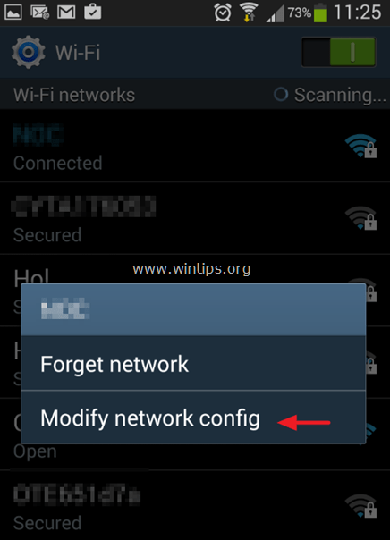 modify network android