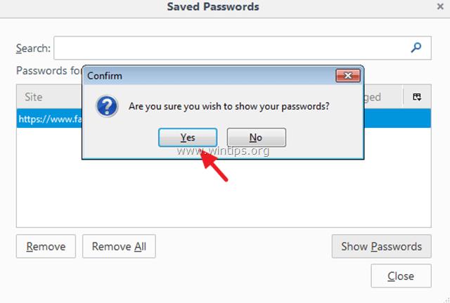retrieve stored - saved - passwords firefox