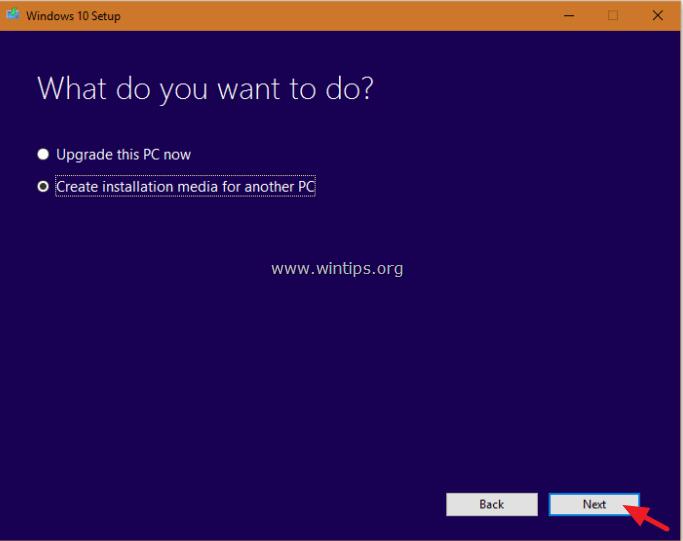 create windows 10 usb