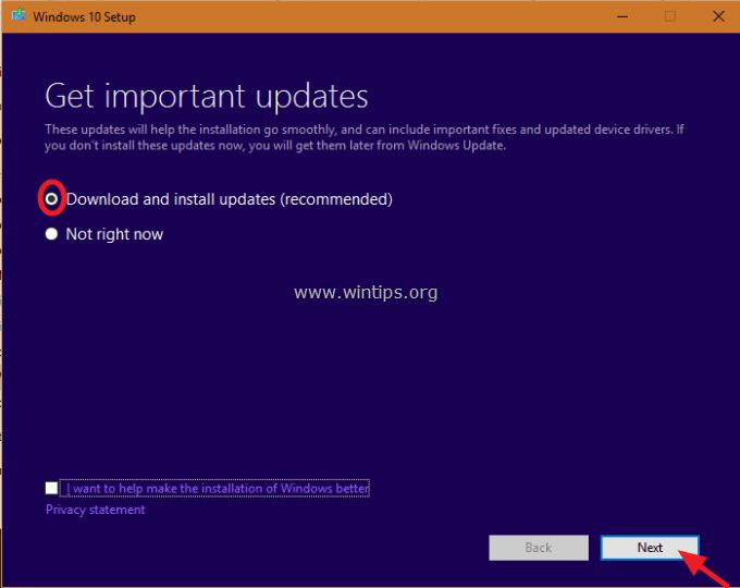 windows 10 upgrade repair