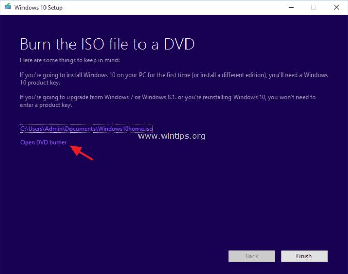 create bootable windows 10 dvd
