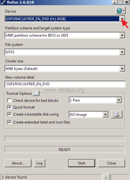 create Windows 10 USB media
