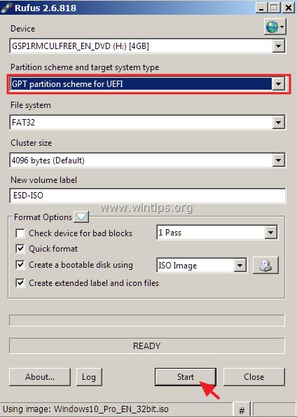 windows 10 usb uefi