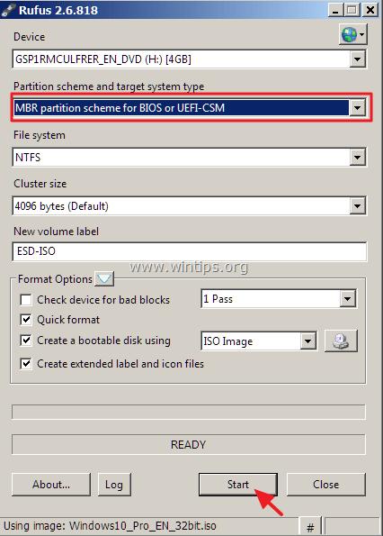 windows 10 usb non uefi