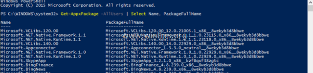view installed Apps powershell