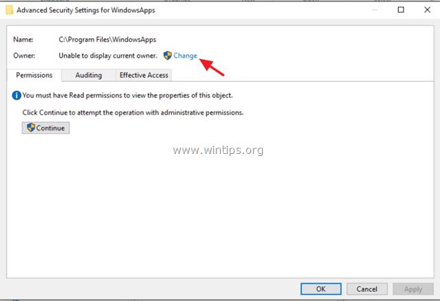 WindowsApps gain access
