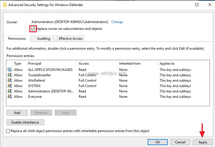 windows 7 disable windows defender registry
