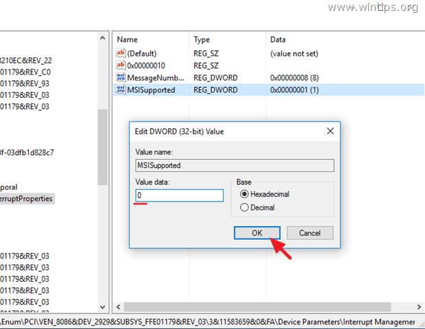 disable MSI mode AHCI Controler
