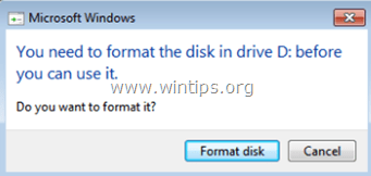 need to format disk before use it