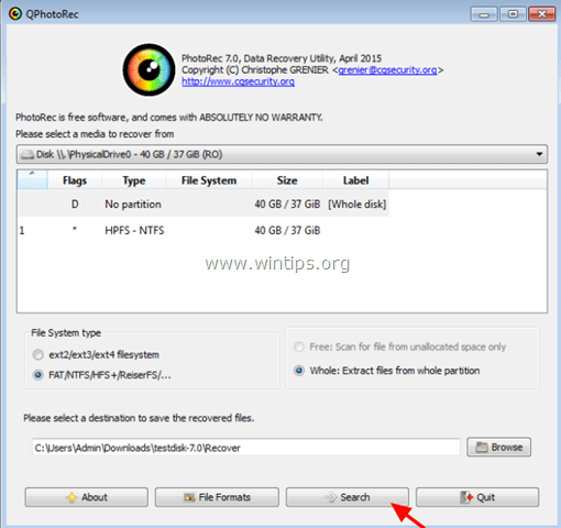 recover raw disk