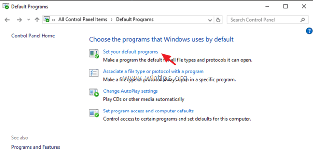 Change Default Programs