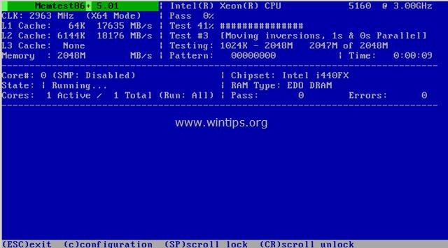 diagnose the System Memory (RAM)