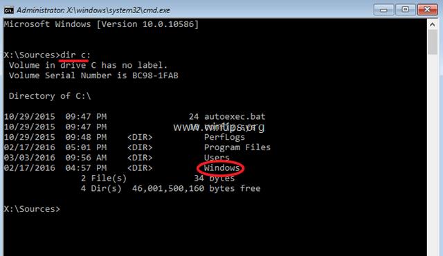 list directory command
